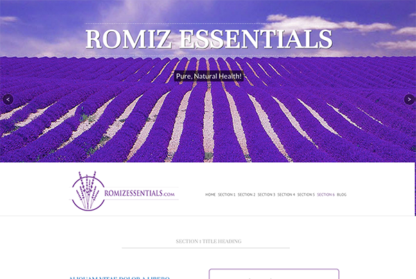 Romiz Essentials | Website