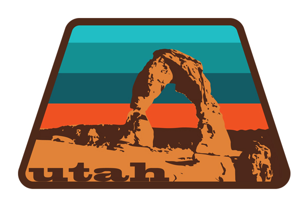 Utah's Delicate Arch | Illustration