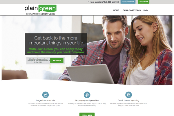Plain Green Loans | Bootstrap Website