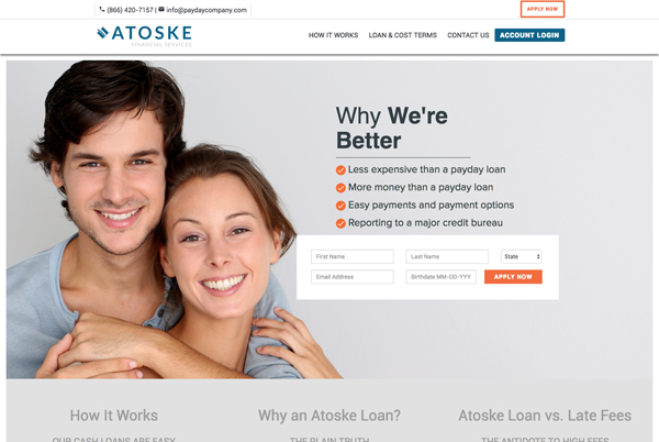 Atoske Financial Services | Bootstrap Website
