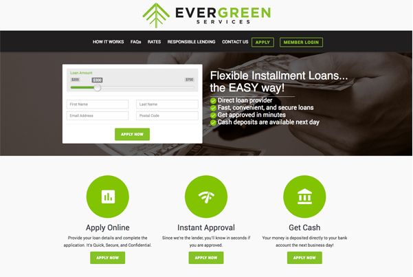 Evergreen Services | Bootstrap Website